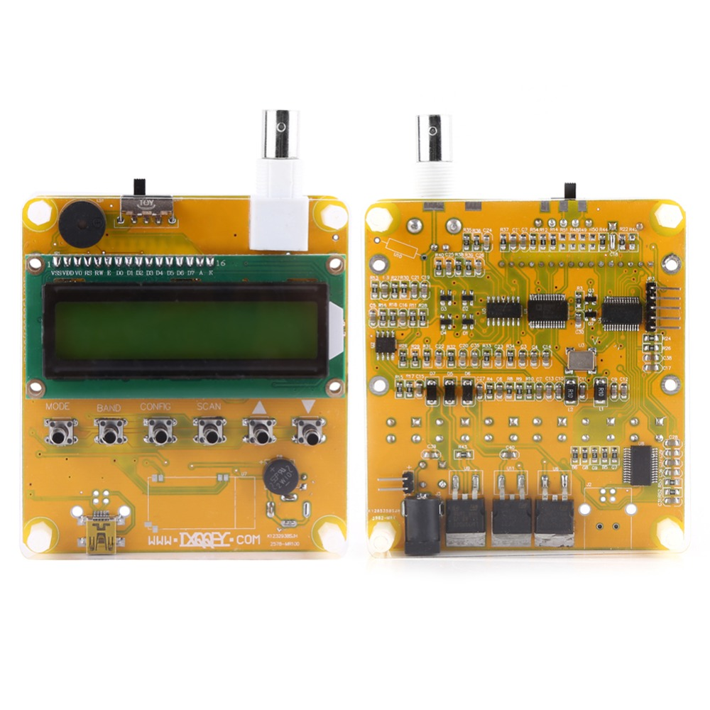 DC12V Shortwave Antenna Analyzer Meter Tester 1 60MHz Q9 Head Digital LCD With Acrylic Protective Case