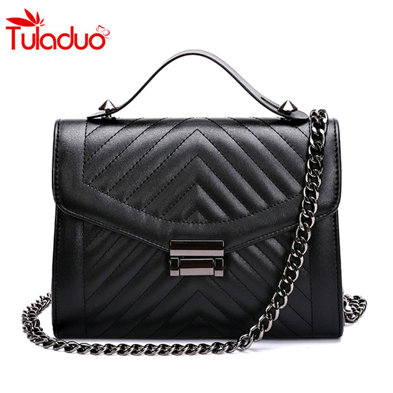 2017 Fashion Flap Leather Women  Messenger Bag Small Ladies Shoulder Bags Sac A Main Quilted Chain Bag Women's Handbags Clutches fashion women leather handbags imperial crown small shell bag women messenger bag ladies shoulder crossbody bag clutches bolsa