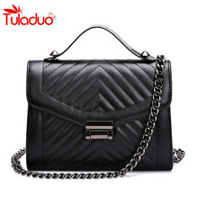 2017 Fashion Flap Leather Women  Messenger Bag Small Ladies Shoulder Bags Sac A Main Quilted Chain Bag Women's Handbags Clutches