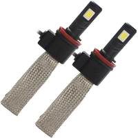 6000K 3200LM LED Headlight Car Styling H11 Aluminum Alloy Belt Heat Dissipation 30W Each Bulb Conversion