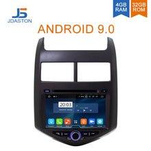 Дастон Android 9,0 Автомобильный мультимедийный плеер для Chevrolet Aveo/Sonic 2011 2012 2013 2 Din автомобильный радиоприемник gps навигации стерео DVD WI-FI