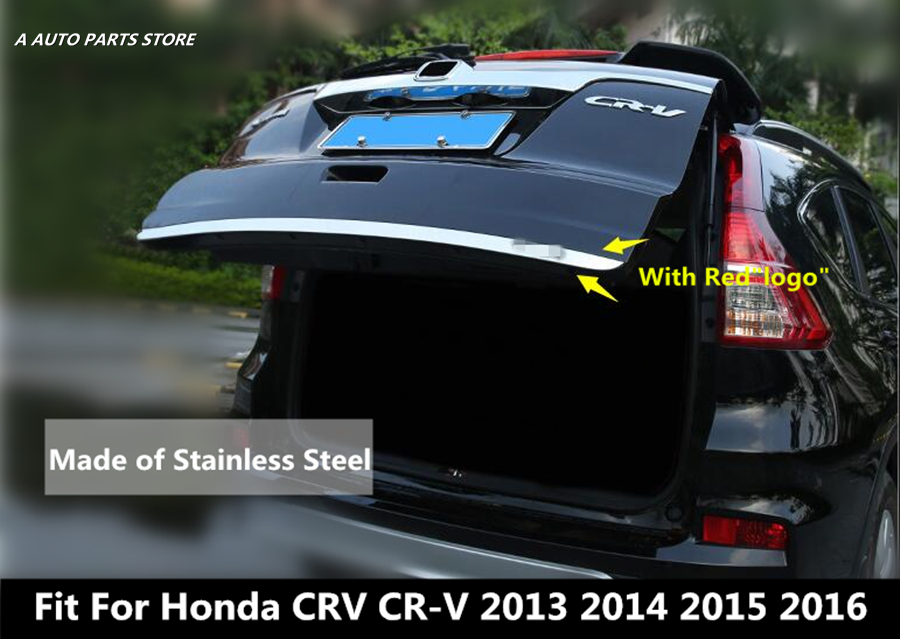 Stainless Steel Rear Tailgate Bottom Trunk Lid Cover Trim Accessories For Honda CRV CR V 2012