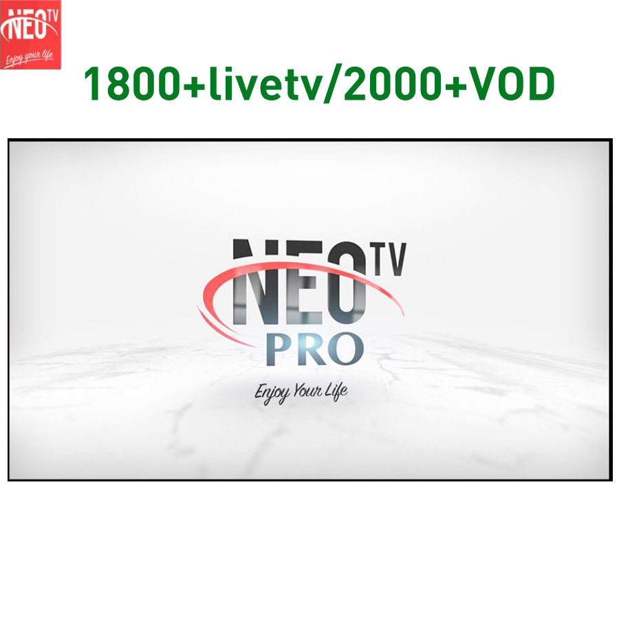 NEOTV PRO Europe IPTV Arabic France Dutch 1 Year NEOPRO 1800 Livetv 2000 VOD For Android