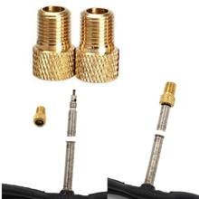 2 шт. латунный адаптер Presta To Schrader велосипедный клапан конвертер горный велосипед насос Соединительный адаптер инструменты из цинкового сплава M23