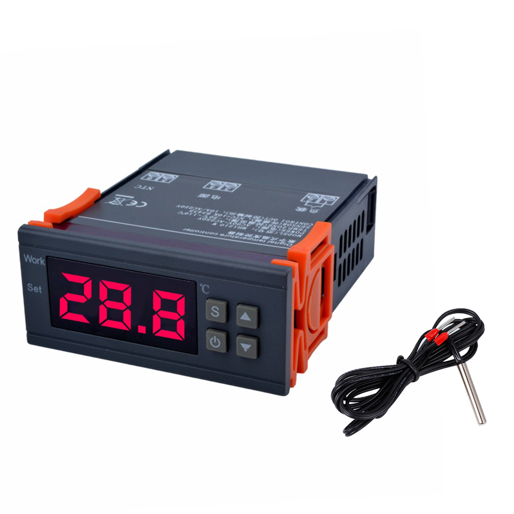 MH1210W Digital Temperature Controller -50-110 Celsius Degree Thermocouple Thermostat Refrigeration Heating Regulator 75*34*85mm 30 80 degree adjusting temperature controller capillary thermostat