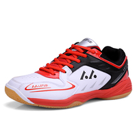 2018 New Men and Women's Brand Badminton Shoes Unisex Athletic Gym Sports Shoes Light Weight Trainers Table Tennis Sneakers