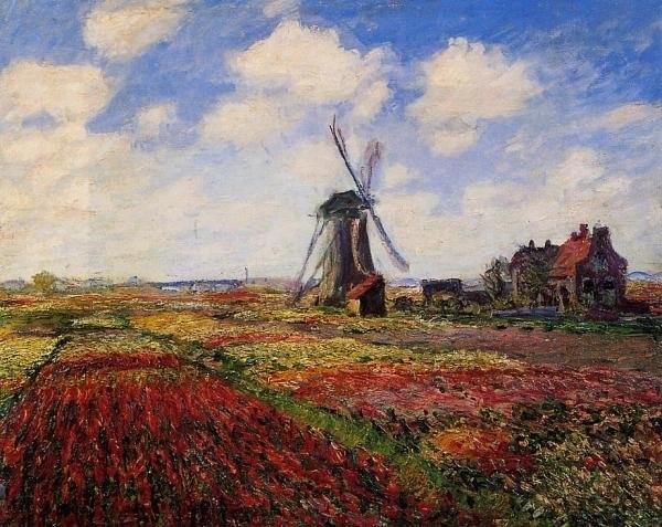 Moulin à vent en fleurs-Claude Monet peintures à l'huile de grande qualité
