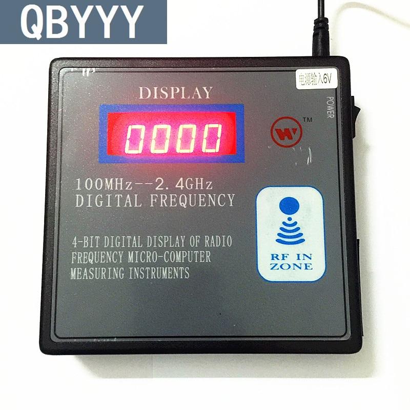 QBYYY 100 mhz-1000 mhz télécommande compteur de fréquence scanner 100 mhz-1g détecteur de fréquence numérique indicateur de radiofréquence