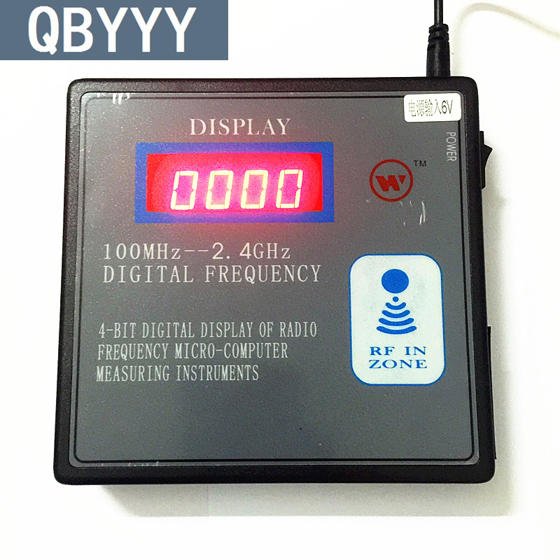 QBYYY 100mhz-1000mhz remote control frequency counter scanner 100mhz-1g digital frequency detector radio frequency indicator