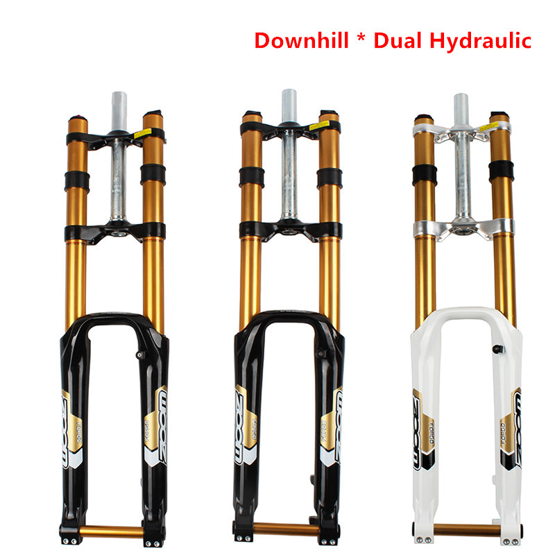 Double fourche avant hydraulique ZOOM 680DH 20 MM essieu verrouillable ajustsuspension Cruiser alliage d'aluminium descente montagne HD fourche de vélo