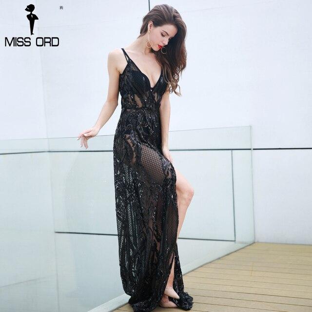 Missord 2019 Sexy Deep-V Off Shoulder Middle Split Backless Vestidos Summer  Dresses Maxi Women Party Dress FT8329 76d9183b14f4