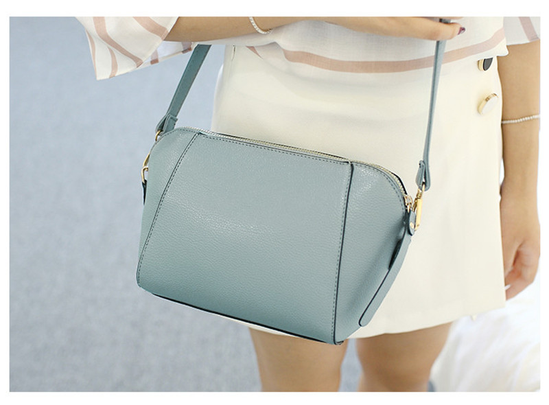 Trendy Japanese and Korean simple shell bag Fashion matches everything female bag small bag single shoulder Messenger bag 38