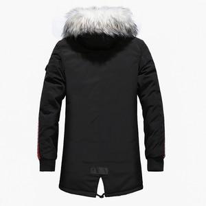 Image 4 - Fgkks masculino parka algodão grosso jaqueta 2020 inverno nova moda quente jaquetas de lã casacos de gola de pele dos homens parkas