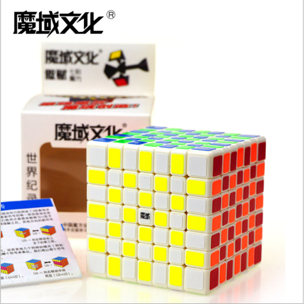 Original MoYu Aofu 7x7x7 Magic Cubes 7 Block Puzzle Speed Cubes Learning & Educational Cubo Magic Toy For Children Kids Gift moyu aoshi 69mm 6x6x6 stickerless speed magic cube puzzle cubes kids educational toys pink
