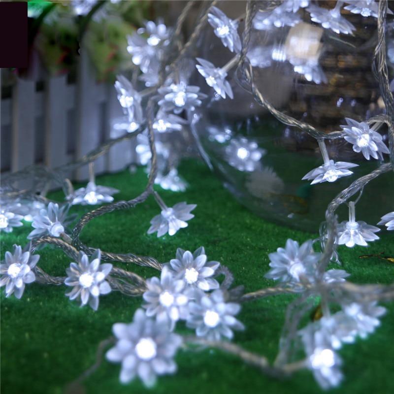 10M 100 LED лотос цветя редица фея - Празнично осветление - Снимка 2
