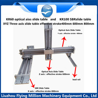 Linear guide Manual 1605 ball screw rod XYZ Three axis sliding table module
