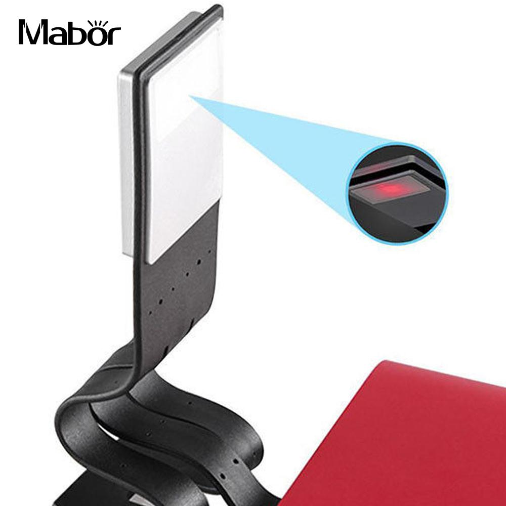 Portable Adjustable Reading Light Book Lamp LED Clip Booklight USB Rechargeable LED Night Lamp Music Stand Piano Desk Lamp led foldable panda book table lamp colorful light portable booklight usb rechargeable night light for holiday gifts