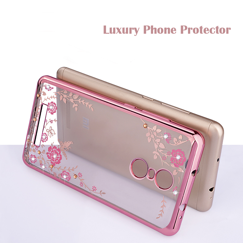 Luxury Soft Back Cover Case For Xiaomi 4i 5S 6 5X A1 Max Mix 2 Redmi Note 4 4X 3 3S 4A 5A Prime Phone Protector Flower Coque