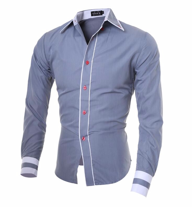Men Shirt 17 Fashion Brand Men'S Cuff Striped Long-Sleeved Shirt Male Camisa Masculina Casual Slim Chemise Homme XXL SHDWQ 7