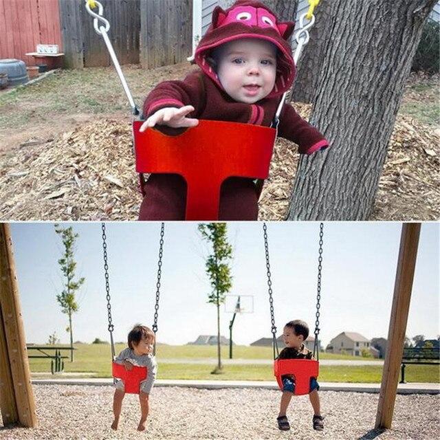 Открытый дети полный ведро качели играть дети высокой спинкой EVA детские качели сиденье с 1,5 м покрытием цепи детская площадка для дома и сада