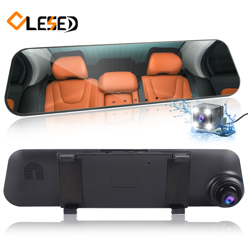 Dual Lens Vehicle Dash Cam Car Dvr Camera Rearview Mirror FHD1080P Cars Dvrs Video Registrator Surveillance Recorder camcorders