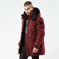 2019 New Winter Casual Long Style Hooded Epaulet Cotton Padded Jackets Men Thick Hat Windproof Fashion Men Parka Pockets Coats