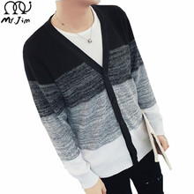 MR.JIM Sweater Men 2016 New Brand Autumn Winter V Collar Knitted Cardigans Pull Homme Plus Size Free Shipping Big Size M-5XL