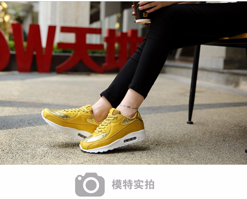 Fashion KUYUPP Wedges Women Trainers Breathable Sport Sequined Cloth Casual Shoes Outdoor Walking Shoes Zapatillas Mujer YD36 (15)