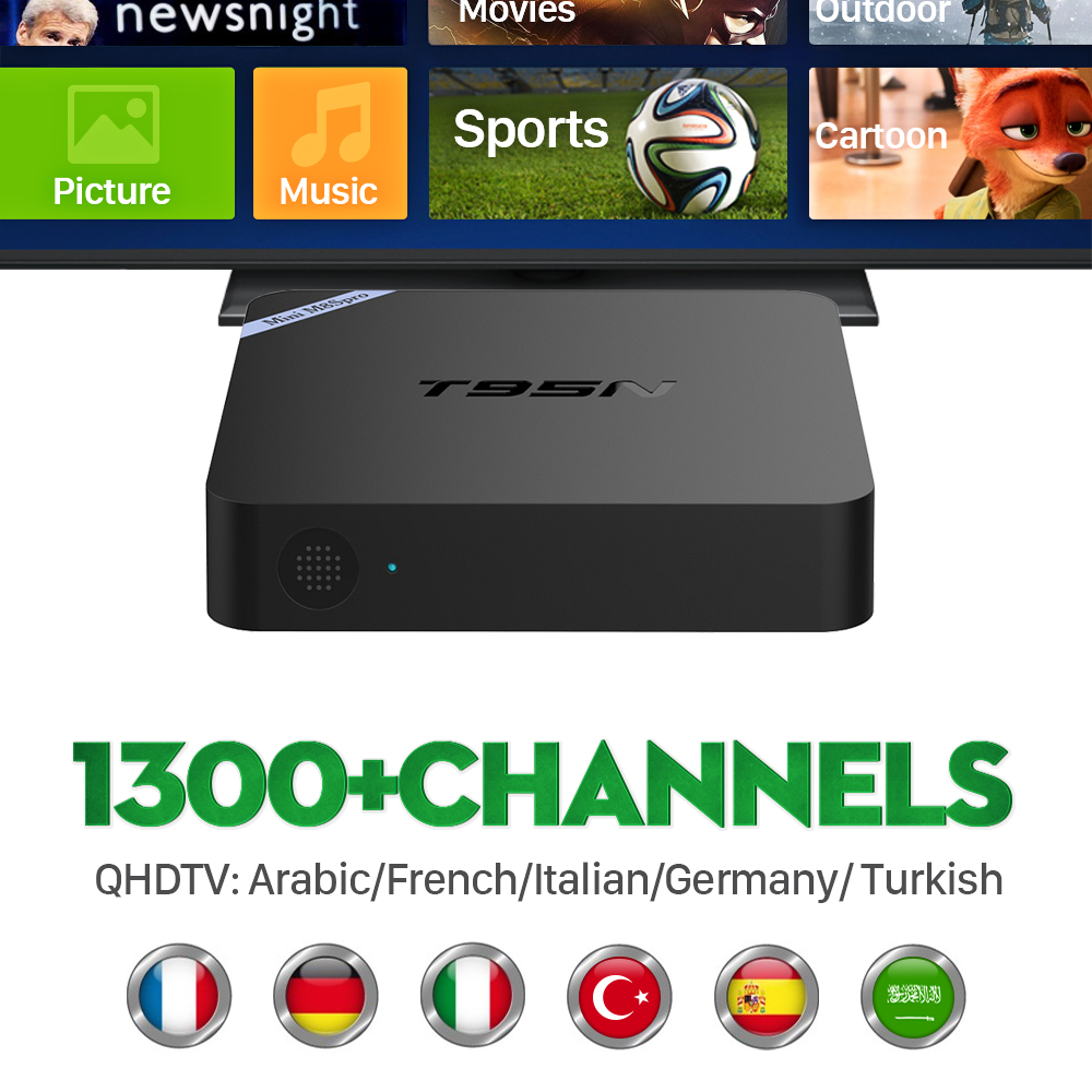 ФОТО Best IPTV Set Top Box Italy UK DE European IPTV Box For Spain Portugal Turkish Netherlands IPTV Tv Box Free Shipping
