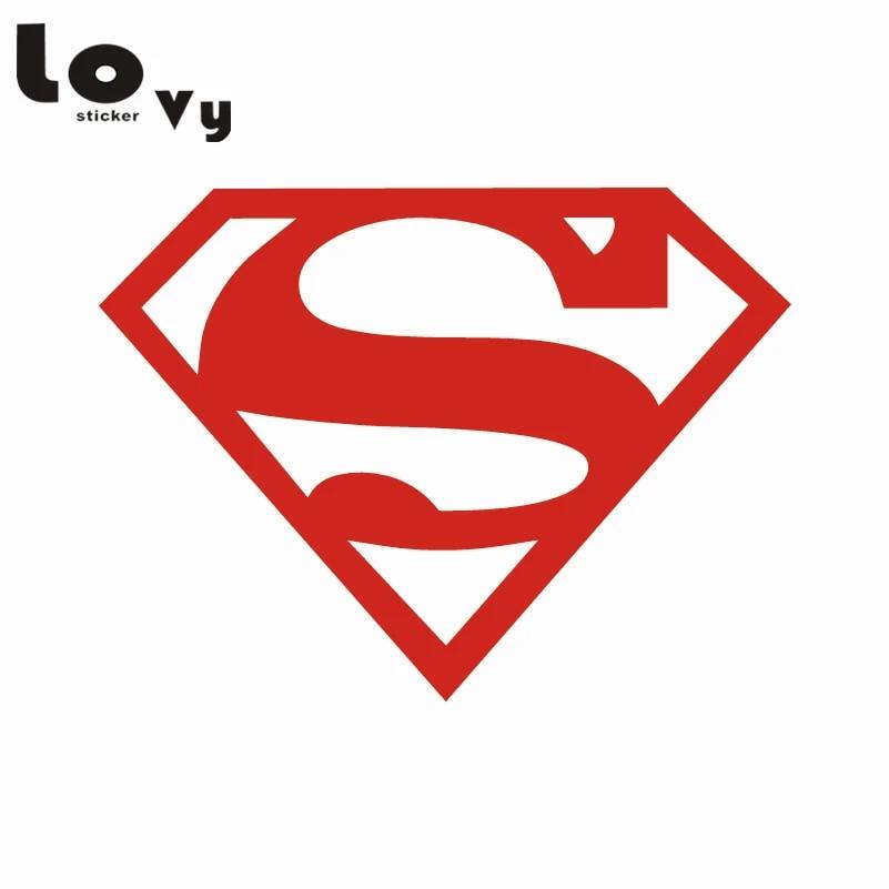 Superman Logo Superhero Color Decal Sticker-Free Shipping