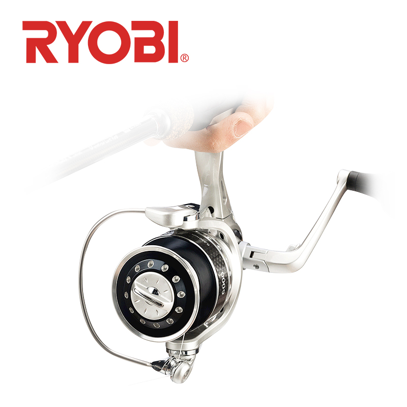 100% original <font><b>RYOBI</b></font> FLOOD DRAGON Sipnning fishing reel <font><b>1000</b></font> 2000 5000 6000 model 5+1BB Gear Ratio 5.1:1/5.0:1 max Drag 2.5~10kg image