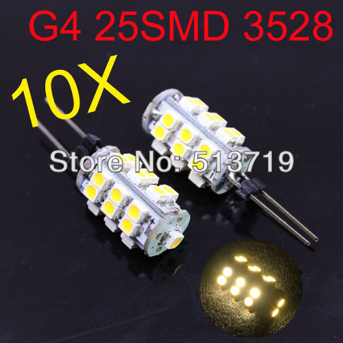 10 x G4 25SMD high power 1210 Cabinet Marine Boat ...