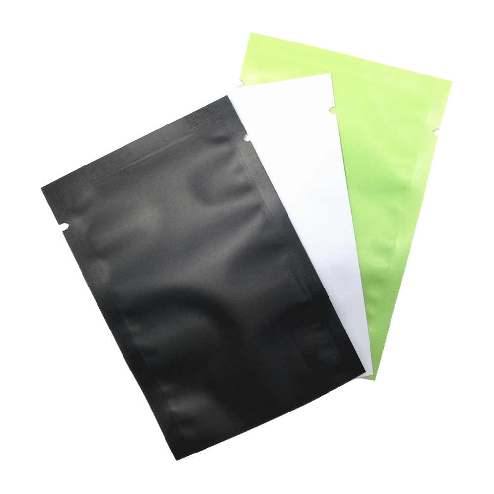 100Pcs/Lot Matte Glossy Flat Open Top Aluminum Foil Bag Vacuum Heat Seal Packaging Pouches Food Coffee Tea Mylar Foil Bag
