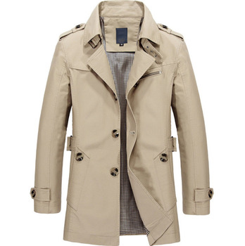 Men Jacket Coat New Spring autumn Fashion Trench Overcoat New Brand Casual Outerwear Coats Plus Size M- 5XL