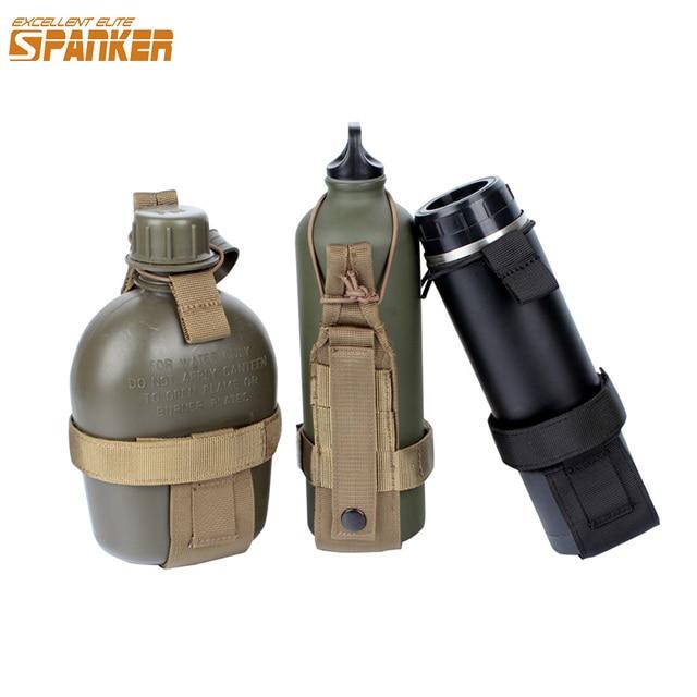 EXCELLENT ELITE SPANKER Outdoor Tactical Lightweight Bottle Holder Camping Military Hunting Carrier Bracket Sports Kettle Bags