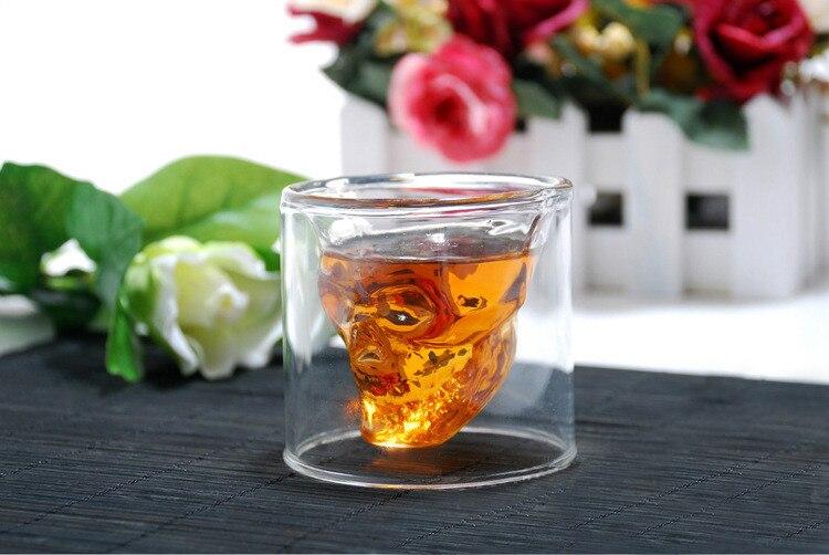 75 ml Clair En Verre Crystal Skull Head Vodka Vin Tasse Tasse Cadeau ...