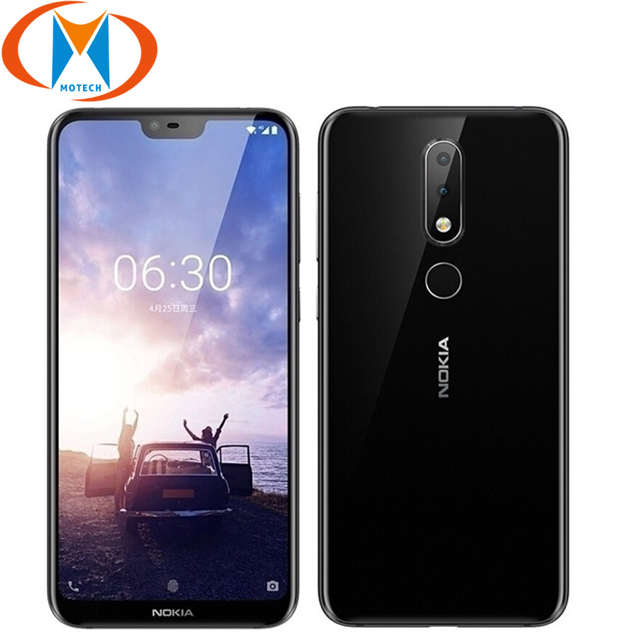 "Brand New Nokia X6 Mobile Phone LTE 4G 5.8"" Snapdragon636 Octa Core 4GB RAM 64GB ROM 16MP 5MP Fingerprint Android 8.1 SmartPhone"