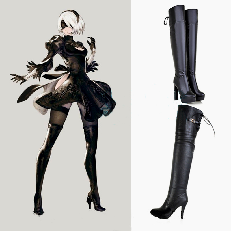 Cosplay Costume for Nier Automata 2B Boots