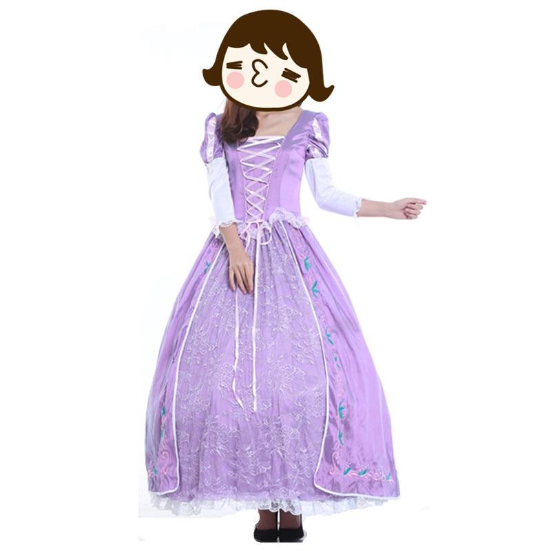 ᐂWholesale Purple Costume Adult Rapunzel Fancy Dress Anime Cosplay ...
