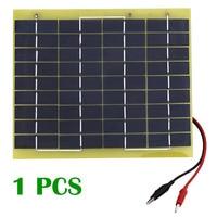 5W Solar Cell Panel 5 Watt 12 Volt Garden Fountain Pond Battery Charger Diode High Quality