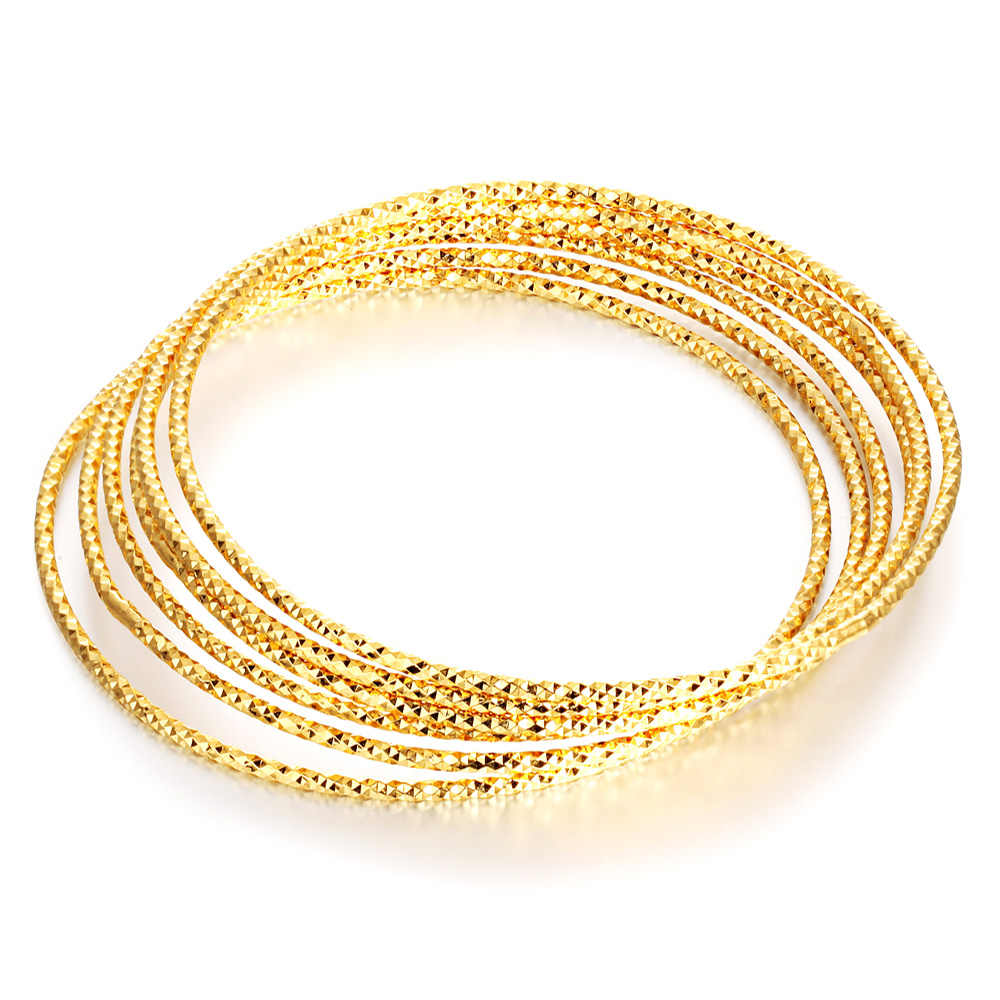 Gold color bangles for womon fashion gifts bride engagement wedding jewelry accessories multilayer bracelet jewellery 2017
