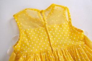 Image 5 - Pettigirl Neueste Mädchen Ostern Kleid Sommer Weiße Blume Dot Ärmel Gelb Baumwolle Kinder Kleid Mit Headwear G DMGD201 C137