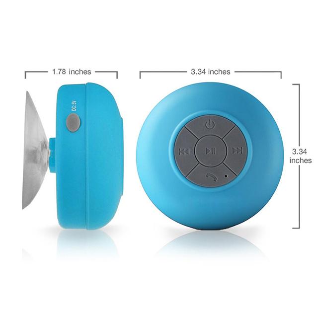 Przenośny Mini głośnik Bluetooth wolne ręce wodoodporne głośniki bezprzewodowe do łazienka prysznice Subwoofer muzyka głośnik