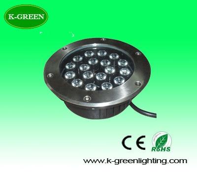 ФОТО 10X high quality 18*1W LED underground lamp IP68 waterproof buried lighting with Bridgelux chip express free shipping