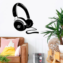 Large Earphone Vinyl Stickers Kids Room Nature Decor Wall Decal Home Decor Living Room Mural Bedroom Stickers adesivo de parede 3d plane family wall stickers mural art home decor vinyl stickers wall decals kids room decor living room adesivo de parede