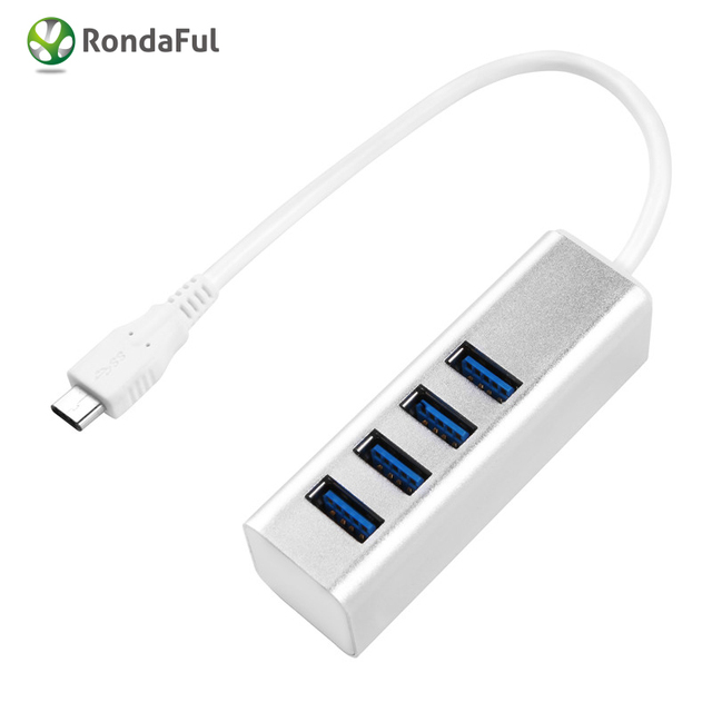 Tyep C to 4-Port USB 3.1 Hub for USB Type-C Devices Including for the new MacBook 2016 ChromeBook Pixel and More other devices