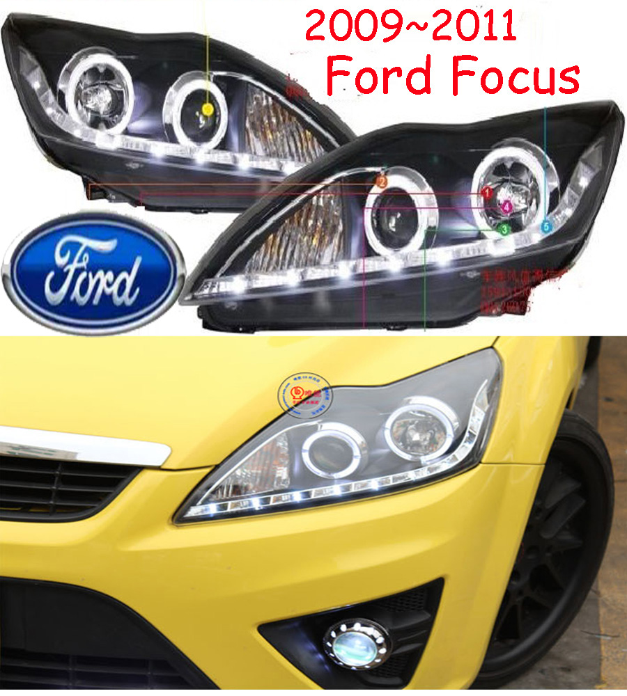 car-styling,Car headlight,2009~2014,Free ship!chrome,kuga,Car fog,chrome,LED,Transit,Topaz,Edge,Taurus,Tempo,spectron,Falcon