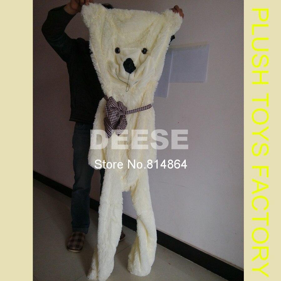 2016 Plush Teddy Bear 160cm Empty Shell Coat Bear Skins