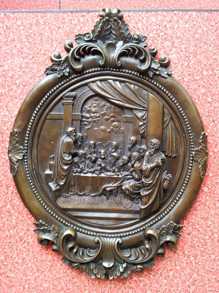 Old antique Bronze Arts & Crafts Embossed fashion wall copper sculpture crafts home decoration