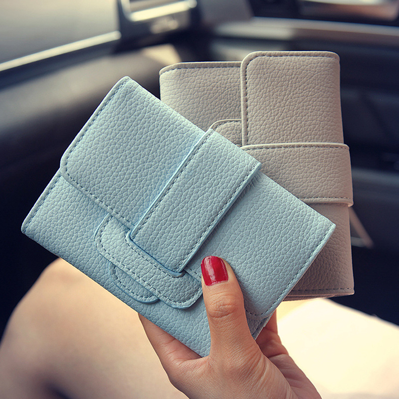 Hot Selling PU Leather Wallet Women Zipper  Purse Female Purse Card Holder High Quality Clutch Casual Women Purses  ST0101 khaki new high quality long clutch wallet women pu leather credit card holder hasp zipper design purse female carteira mulheres wallet